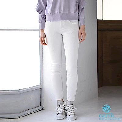 earth music Ray 6月號揭載款-定番顯瘦素面窄管褲