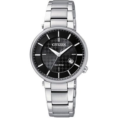 CITIZEN Eco-Drive 都會光動能女錶(EW1790-57E)-黑/30mm