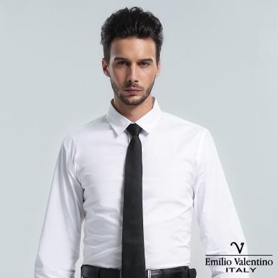 Emilio Valentino 范倫提諾彈力長袖襯衫-白