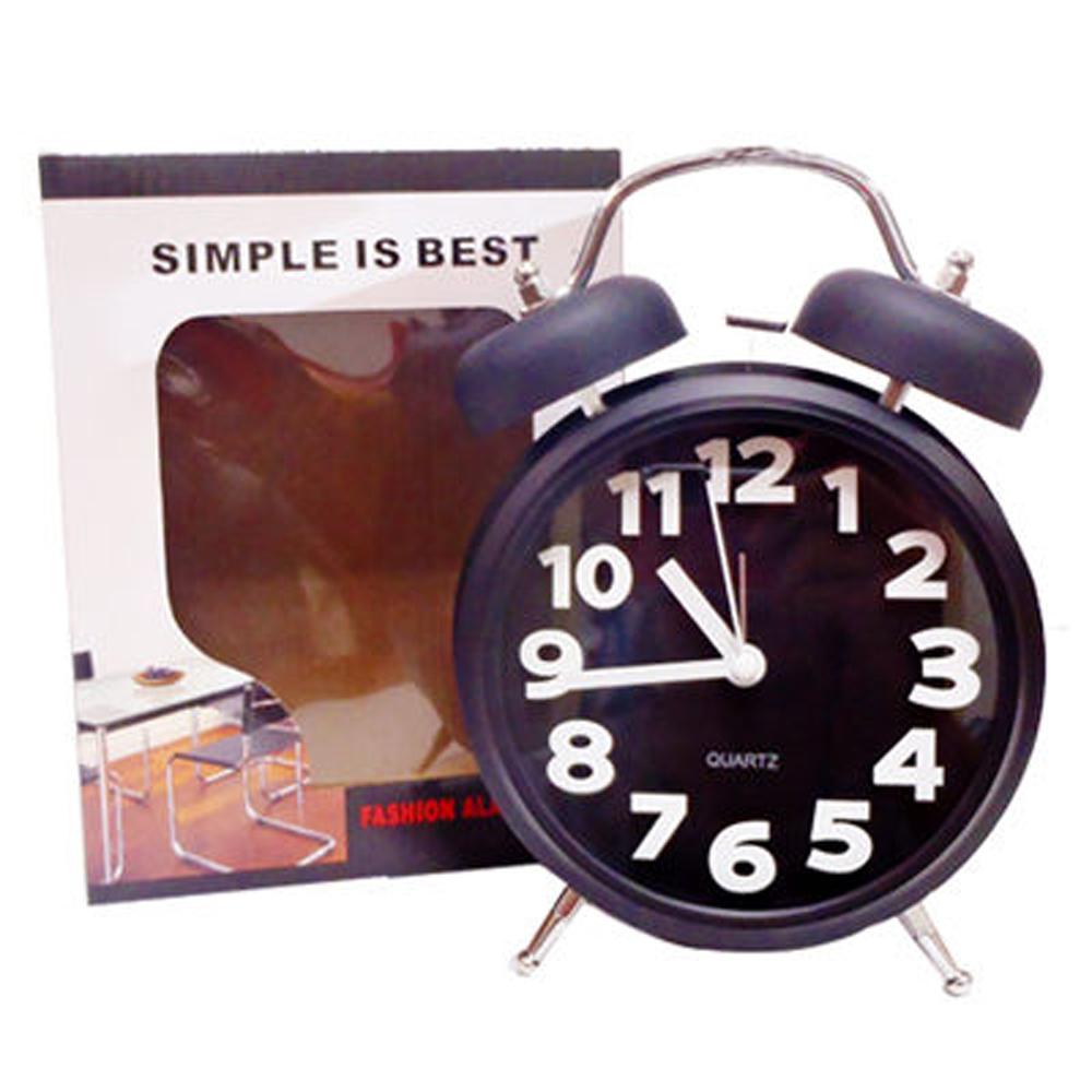 簡約造型圓鐘(低調黑)