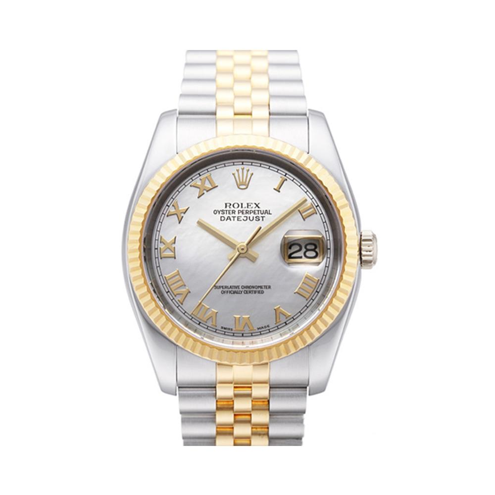 ROLEX 勞力士 DateJust 116233 蠔式恆動日誌型錶 -貝殼羅馬面/37mm