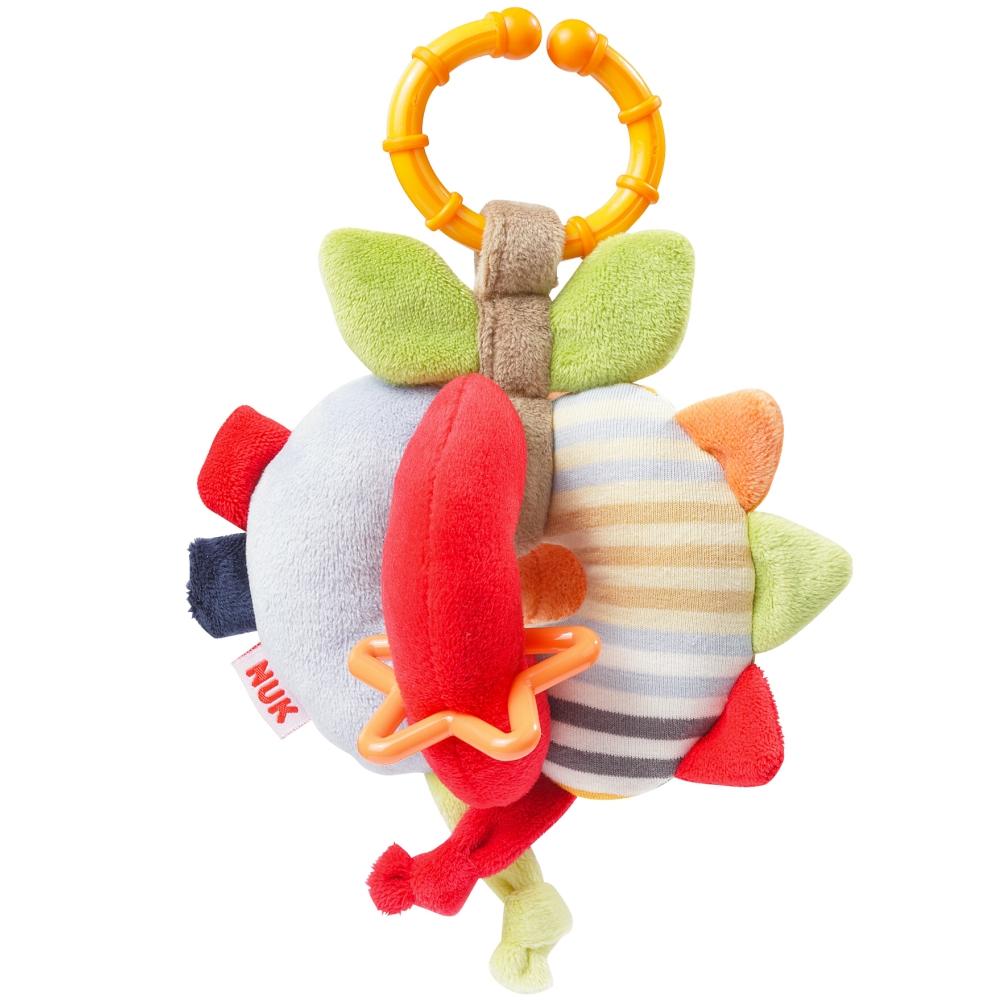 德國NUK絨毛玩具-蘋果型抓握訓練球