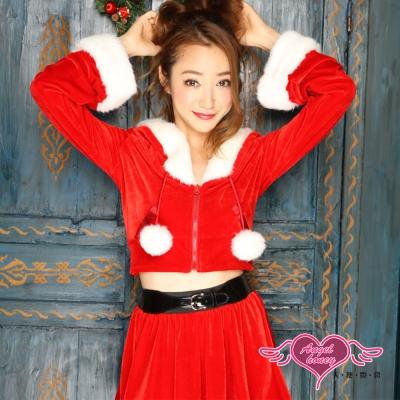耶誕服 動感妖精 長袖聖誕舞會角色扮演服(紅F)  AngelHoney天使霓裳