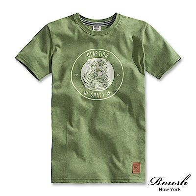 Roush 北極熊立體膠印短TEE(3色)