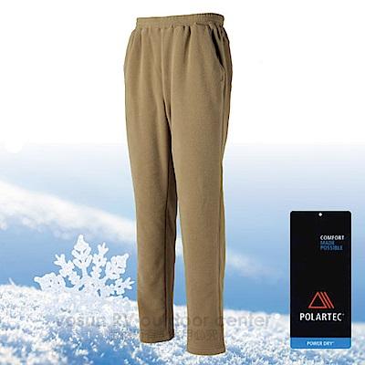 【台灣 DEODAR】Polartec 超輕快乾彈性刷毛保暖長褲_墨綠