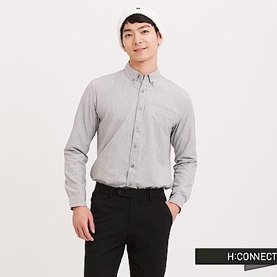 H:CONNECT 韓國品牌 男裝 - 基本純色口袋襯衫 - 灰