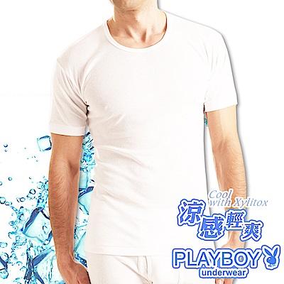 PLAYBOY 涼感短袖衫MIT製涼感纖維-單件