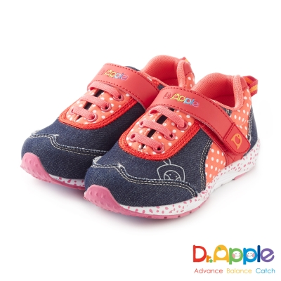 Dr. Apple 機能童鞋 鬚邊牛仔布帥性點點風童鞋款 紅