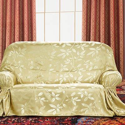 《布安於室》靼葉DIY3人座沙發罩-金色