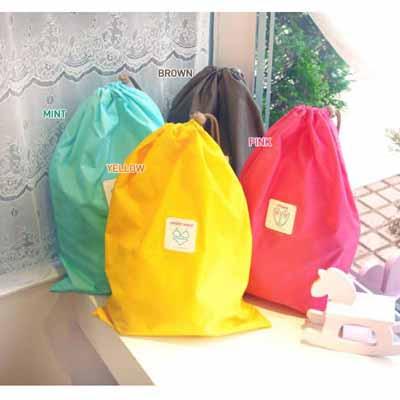 PUSH!旅遊用品 衣物、鞋子…收納束口袋(L號)