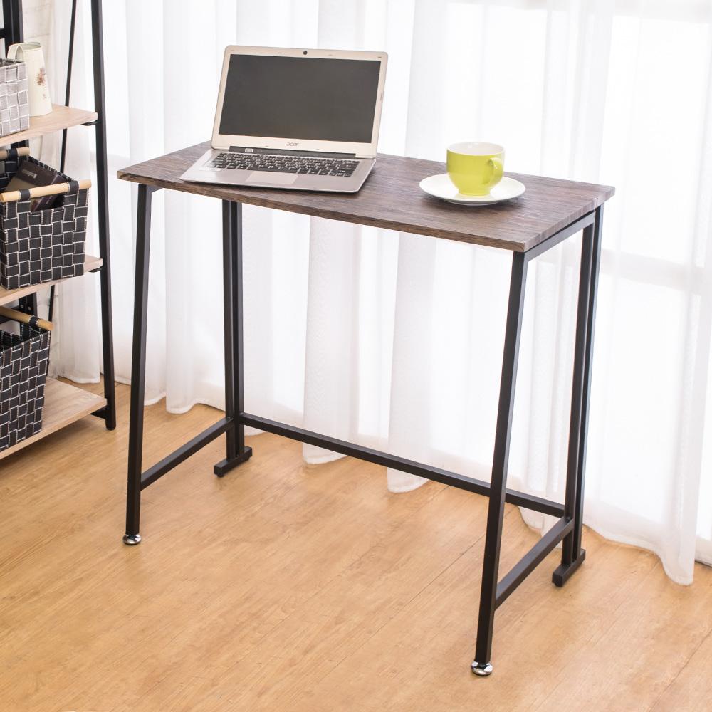Bernice-凱爾折疊工作桌/書桌(刷舊木紋色)80x45x75cm