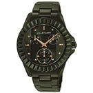 JILL STUART Prism系列簡約晶鑽三眼全日曆腕錶-黑/31mm
