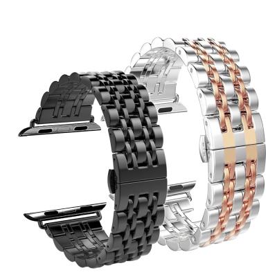 Apple Watch 不鏽鋼七珠蝶扣錶帶-贈拆錶器(42mm)