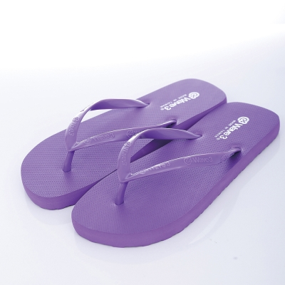WAVE3【女】台灣製LOGO耳帶人字夾腳拖~紫色