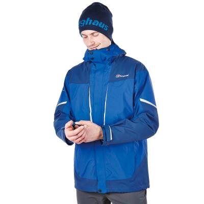 【Berghaus貝豪斯】男款GT防水透氣外套H22MT3-藍
