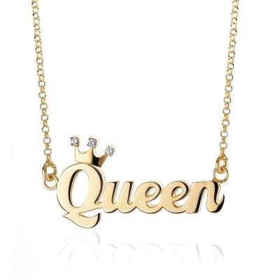 【YUME】小皇冠英文名字項鍊