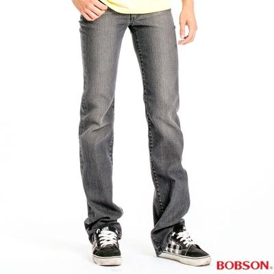 BOBSON 男款中腰彈性直筒褲