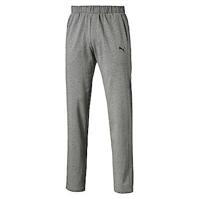 PUMA-男性基本系列素色開口棉褲-中麻花灰-亞規