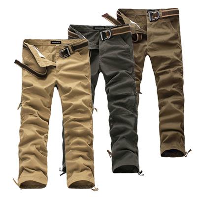 美國熊 多工處理 紮實水洗面料‧百搭六袋款工作褲