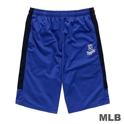 MLB-堪薩斯皇家隊LOGO印花快排短褲-藍 (男)