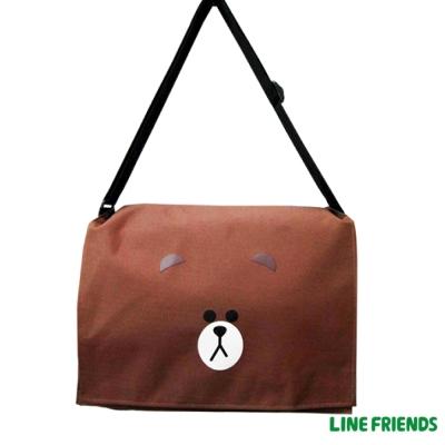 LINE FRIENDS  側背包(大)LI5418_咖