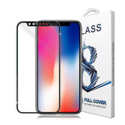 GLA iPhone X 4D滿版9H鋼化玻璃膜(黑)