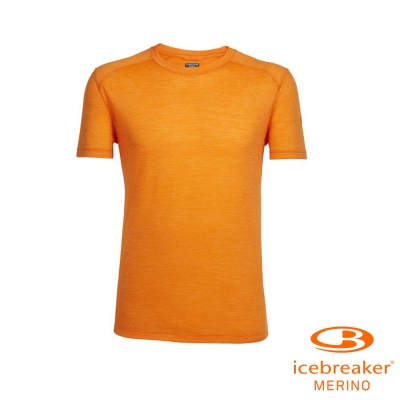 【Icebreaker】男 美麗諾羊毛 COOL-LITE 圓領短袖上衣_活力橘