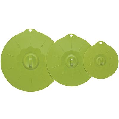 NOW 耐熱密封蓋大小3件(綠)