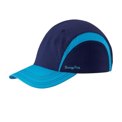 【SNOWFOX 雪狐】戶外休閒旅遊透氣抗UV中性款球帽 CA-21518 丈青