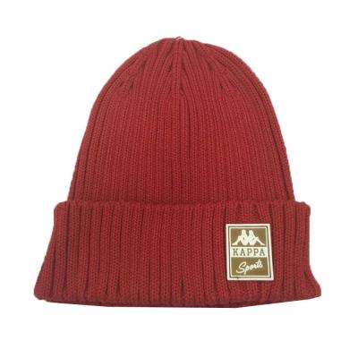 KAPPA 時尚運動限量版毛線帽 大紅
