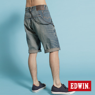 EDWIN-3D剪栽-E-FUNCTION504馬褲-男款-重漂藍
