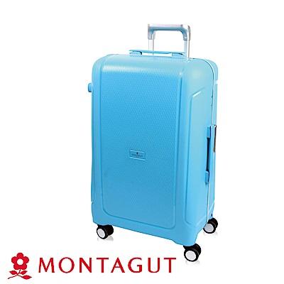 MONTAGUT夢特嬌-28吋 蜜糖夾心窄鋁合金 行李箱-沁心藍