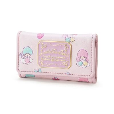 Sanrio-雙星仙子PU皮革鑰匙包-綜合水果粉