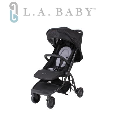(L.A BABY 美國加州貝比)  旅行摺疊嬰兒手推車(黑色)