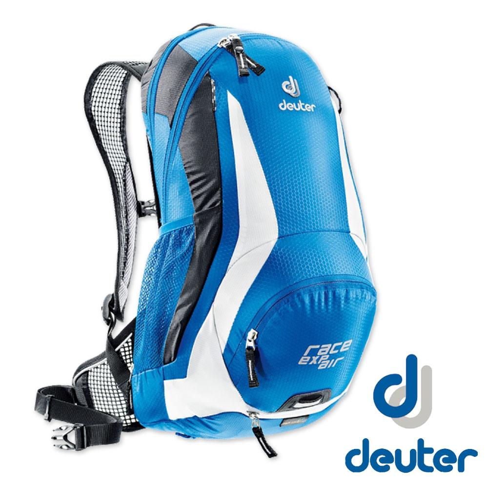 【德國 Deuter】Race EXP Air 輕量型自行車網架背包_藍白