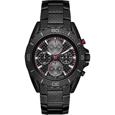 Michael Kors Jet Master 飆速碳纖維計時錶-黑/43mm