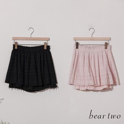 beartwo-雙層蕾絲流蘇造型短褲裙-共二色