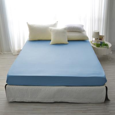 IN-HOUSE-精梳棉-加大素色床包-水藍