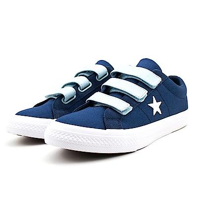 CONVERSE-中大童鞋660763C-藍