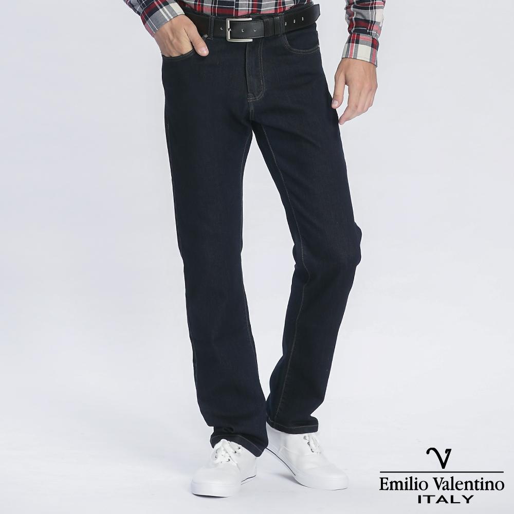 Emilio Valentino 范倫提諾彈性合身牛仔褲-原色藍
