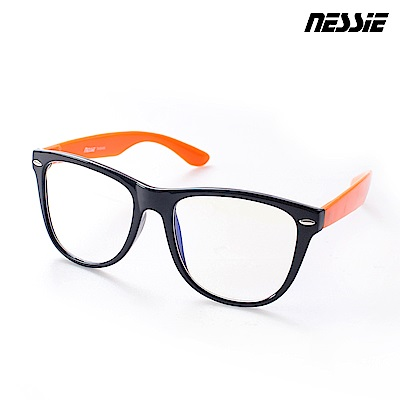 Nessie尼斯眼鏡 濾藍光眼鏡 炫潮系 黑橘