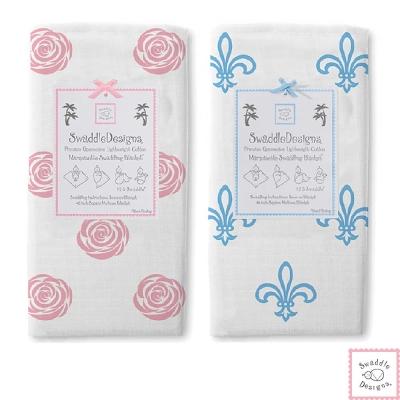 Swaddle Designs 薄棉羅紗多用途嬰兒包巾-甜心玫瑰