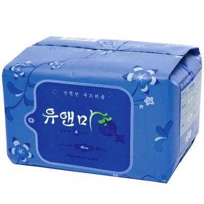 悠安美漢方衛生棉-夜用30cm(20片裝/包)