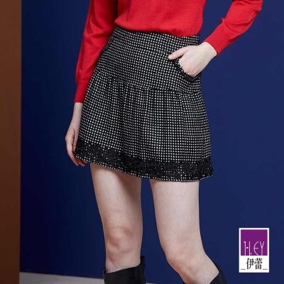 ILEY伊蕾-可愛蓬褲裙-黑