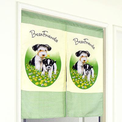 《布安於室》可愛小狗日式中短門簾