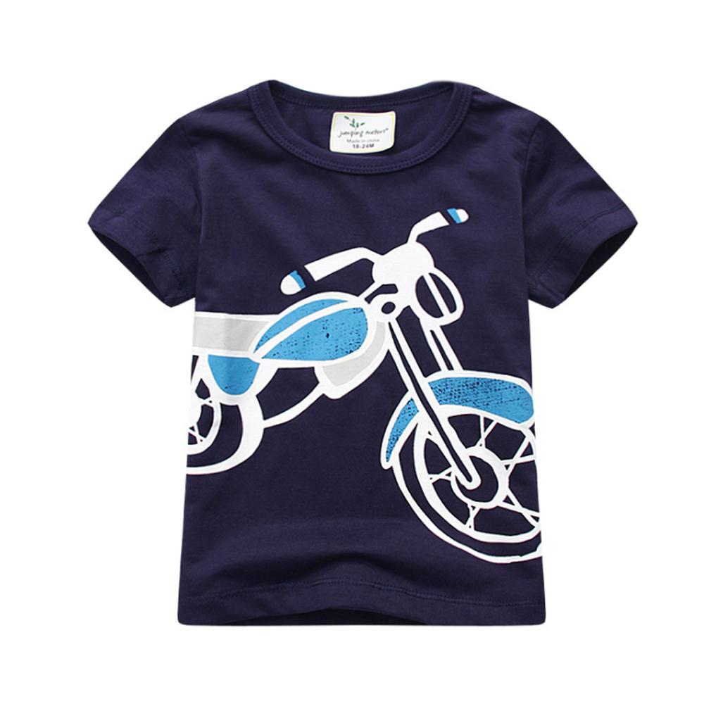 上衣 男童 帥氣摩托車 歐美經典兒童純棉短袖T恤