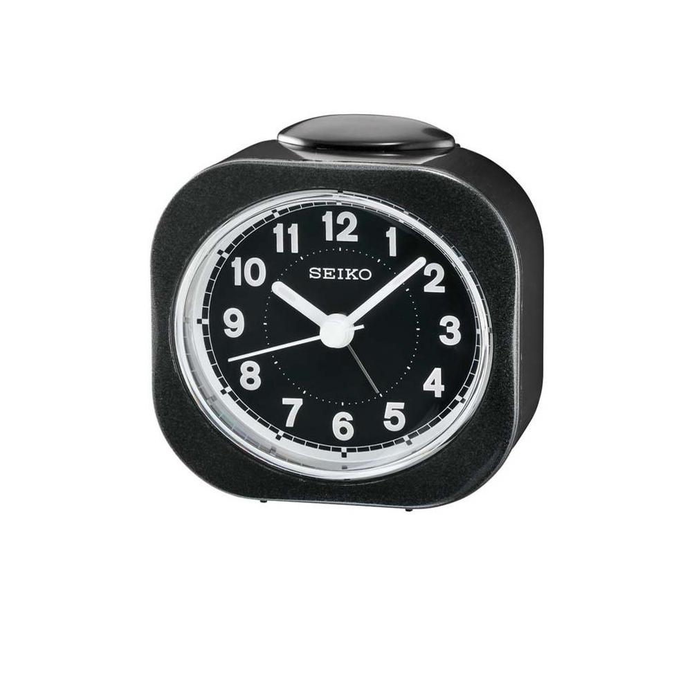 SEIKO 精工 嗶嗶聲 靜音 鬧鐘(QHE121K)-黑/7.3X7.2cm