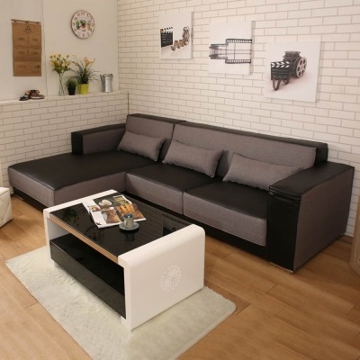 典雅大師 Caesar凱薩皮布L型沙發(2色)