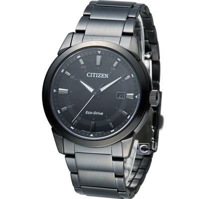 CITIZEN 星辰 光動能時尚腕錶(BM7145-51E)-黑/41mm