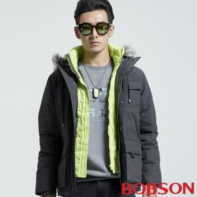 BOBSON 男款仿兩件絲棉外套